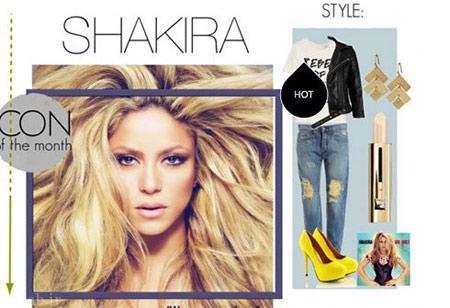 مدل لباس و ست جین شیک به سبک شکیرا