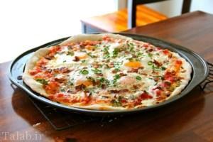 پیتزای تخم مرغی بدون خمیر درست کنید