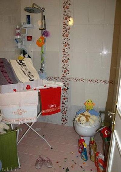چیدمان و تزئینات سرویس بهداشتی خانه خانه عروس