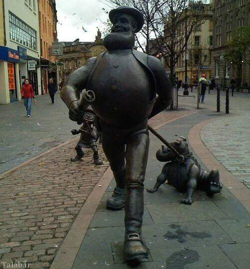 عکس های دیدنی از مجسمه های عجیب و خلاقانه