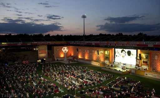 تصاویری جالب از فوتبال تماشا کردن آلمانی ها