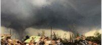 تصاویری از گردباد مرگبار در یکی از ایالات امریکا