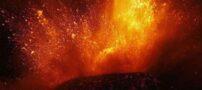 تصاویر دیدنی فوران آتشفشان آتنا در ایتالیا