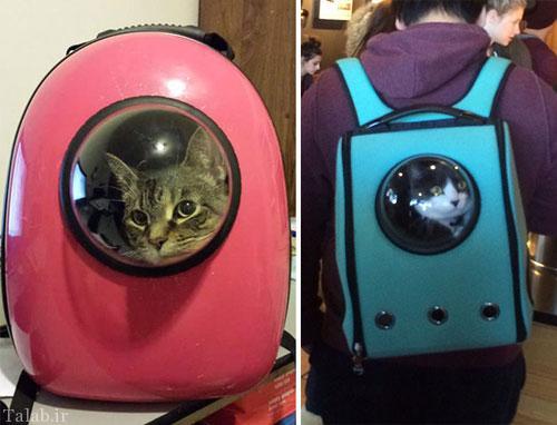 ساخت کوله پشتی بامزه برای نگهداری حیوانات + تصاویر