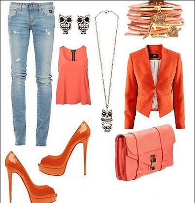 نکاتی در مورد انتخاب لباس با رنگ نارنجی