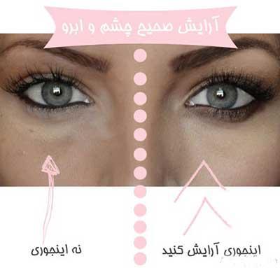 آموزش تصویری آرایش صحیح چشم و ابرو