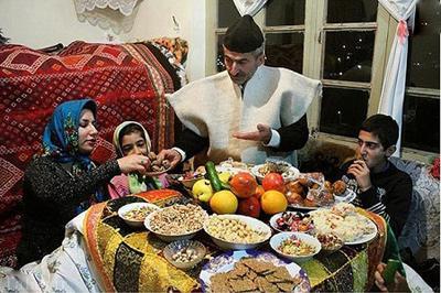 رسم جالب مردم گیلان برای شب یلدا