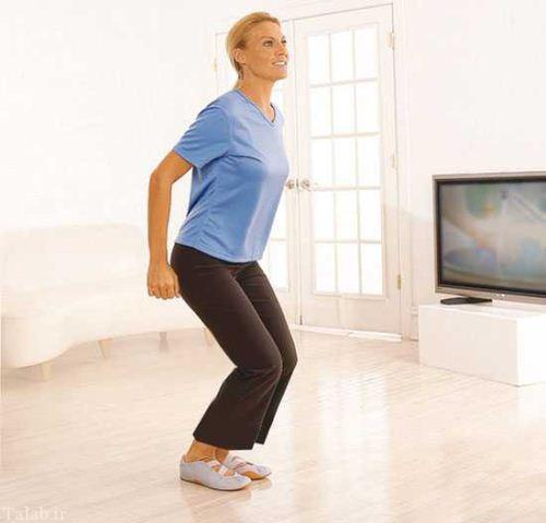 هنگام تماشای تلویزیون ورزش کنید