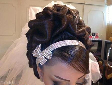 مدل های جدید و جذاب شینیون با تور عروس