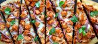 طرز تهیه پیتزا مرغ با پنیر موزارلا