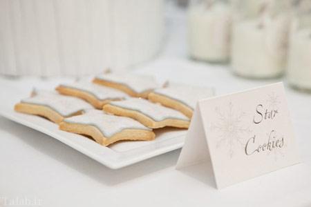 تصاویری از چیدمان جشن تولد با تم برفی