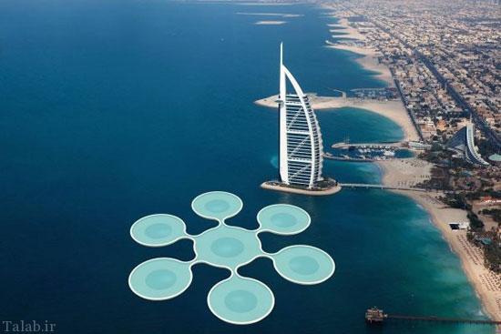 ایده ساخت زمین تنیس زیر آب های خلیج فارس (عکس)