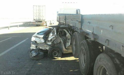 زنده ماندن سرنشینان 206 پس از تصادف و مچاله شدن (عکس)