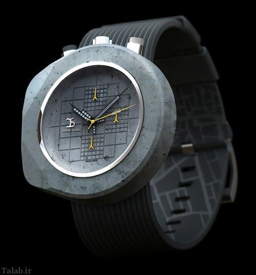 ساخت ساعت مچی با استفاده از سیمان و بتن