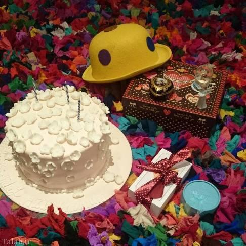 عکس جالب جشن تولد آزاده نامداری