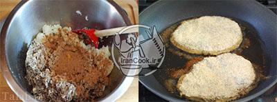 طرز تهیه کتلت قارچ و لوبیا