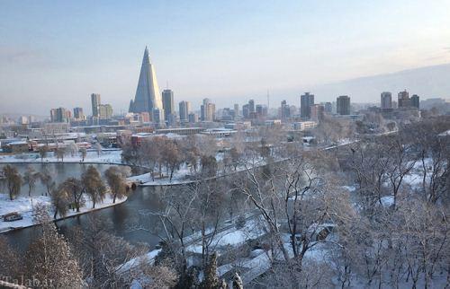 عکس های دیدنی از سرمای طاقت فرسا در کره شمالی