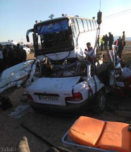 تصادف خونین و وحشتناک پراید و کامیون + عکس