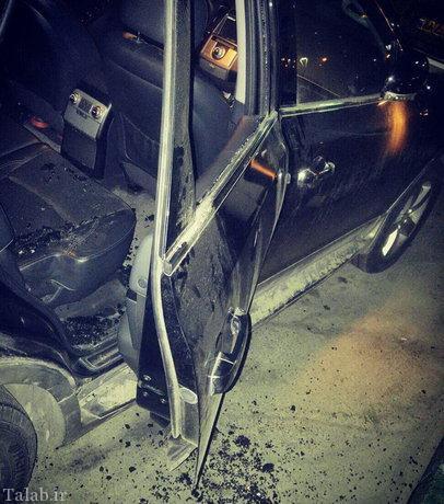 دستبرد به خودرو رضا رشیدپور در شب گذشته + عکس
