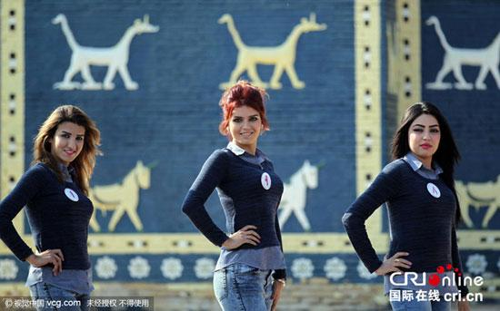 مراسم انتخاب زیباترین دختر شایسته عراق (عکس)