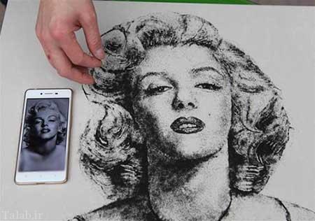 خلاقیت جالب آرایشگر با موهای کوتاه شده مشتریان + عکس