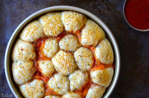 طرز تهیه پیتزا پپرونی لقمه ای
