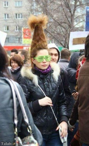 تا به حال چنین مدل موهای خنده داری دیده بودید؟!