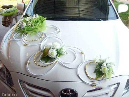 مدل تزیینات شیک و زیبای ماشین عروس