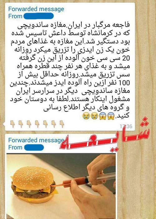 دستگیری ساندویچ فروشی داعش در کرمانشاه (عکس)