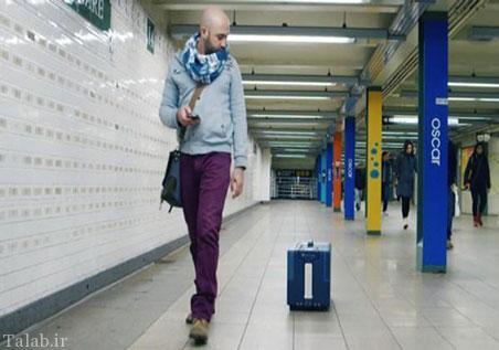 چمدان های هوشمند دنبال کننده انسان (عکس)