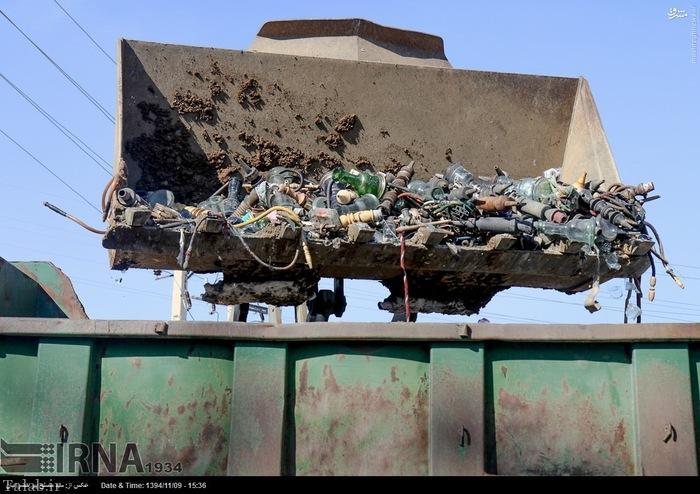 اقدام جالب نابود کردن قلیان ها در سنندج + تصاویر