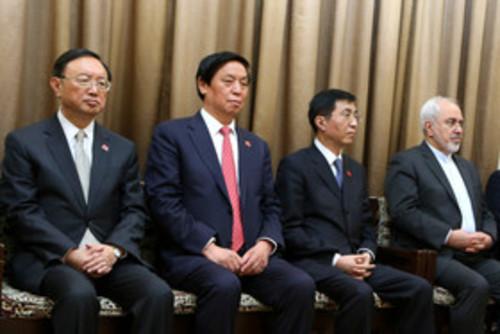 ملاقات مقام معظم رهبری با رئیس جمهوری چین