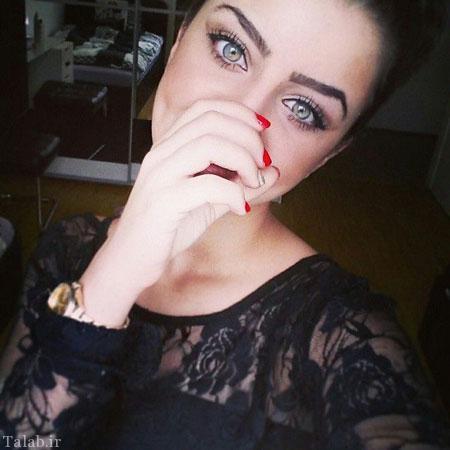 دختر جذاب و جنجالی اینستاگرام با چشمانی گیرا + عکس