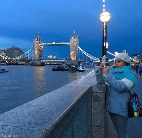 تیپ جالب و دیدنی الناز شاکردوست در لندن (عکس)