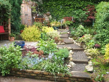 مدل دکوراسیون شیک حیاط خلوت و حیاط