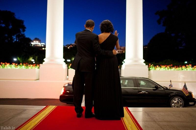 عکس های عاشقانه و رمانتیک باراک اوباما و همسرش