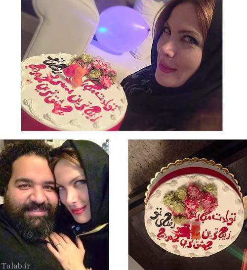 جشن و کیک تولد همسر زیباروی رضا صادقی (عکس)