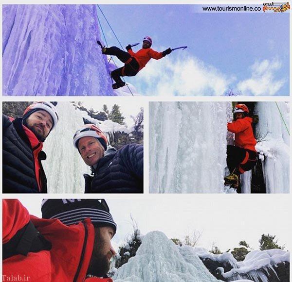 چالش یخ نوردی جاستین تیمبرلیک با خانواده اش (عکس)