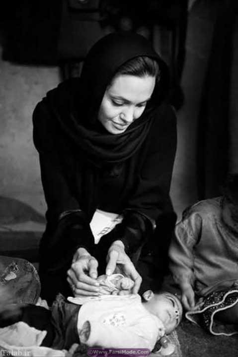 سفر آنجلینا جولی به افغانستان و ساخت مدرسه + تصاویر