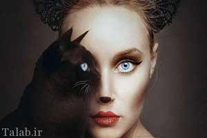 تصاویر زیبا و دیدنی از ترکیب چشم انسان و حیوانات