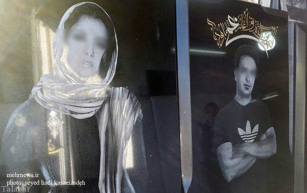 عکس های فشن و آتلیه ای بر روی سنگ قبرها در تهران + تصاویر