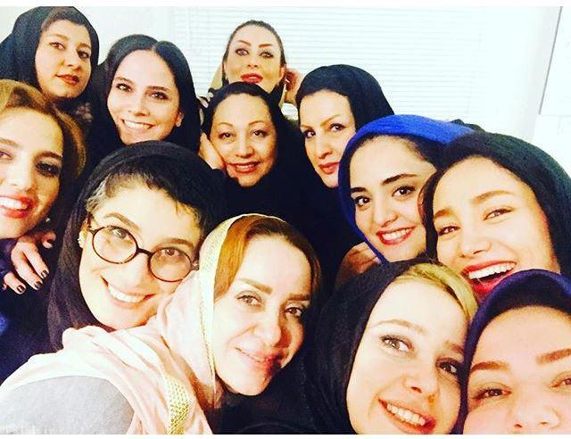 سلفی دورهمی بازیگران مشهور زن در منزل بهاره افشاری (عکس)