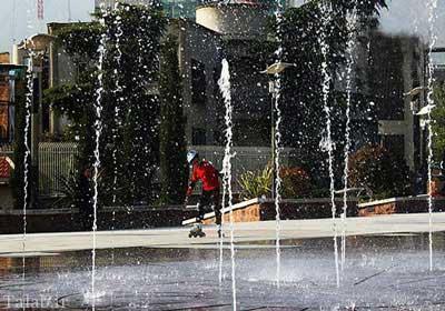 به پارک زیبای آب و آتش تهران بروید