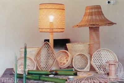 هنر زیبای بامبو بافی در استان گیلان