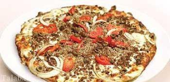 طرز تهیه پیتزا یونانی با قارچ