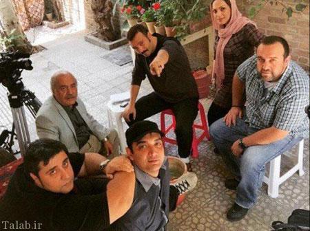 عکس های دیدنی از پشت صحنه سریال پشت بام تهران