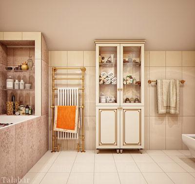 چیدمان و دکوراسیون زیبای سرویس بهداشتی