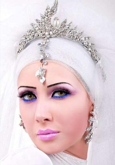 تور محجبه عروس تور با حجاب عروس , شیک ترین لباس عروس , شیک ترین حجاب عروس , مدل لباس عروس با حجاب , هد حجاب عروس , تور عروس محجبه , جدیدترین حجاب عروس