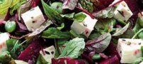 طرز تهیه سالاد زمستانی با لوبیا چیتی و سیب زمینی