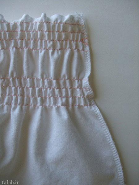 آموزش دوخت پیراهن دخترانه (تصویری)